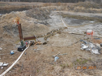 Изготовление и установка шахт водоспусков типа Монах - мой отчет фото и видео  - DSCN1860[1].JPG