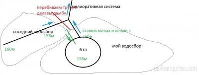 Проект: привод воды в пруд с соседнего водосбора - схема соседнего водосбора.jpg